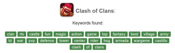 ASO App Store Optimalizalas Clash of Clans