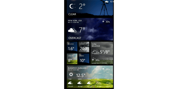 Weather Flow Live Tile