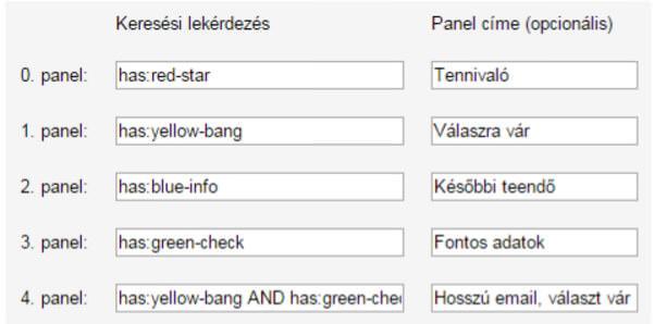 Gmail jelölők beállítása