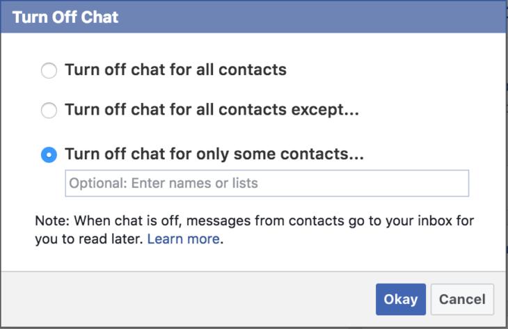 Facebook inkognitó mód