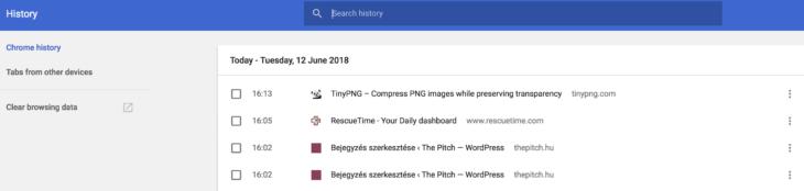 Google keresési előzmények 2