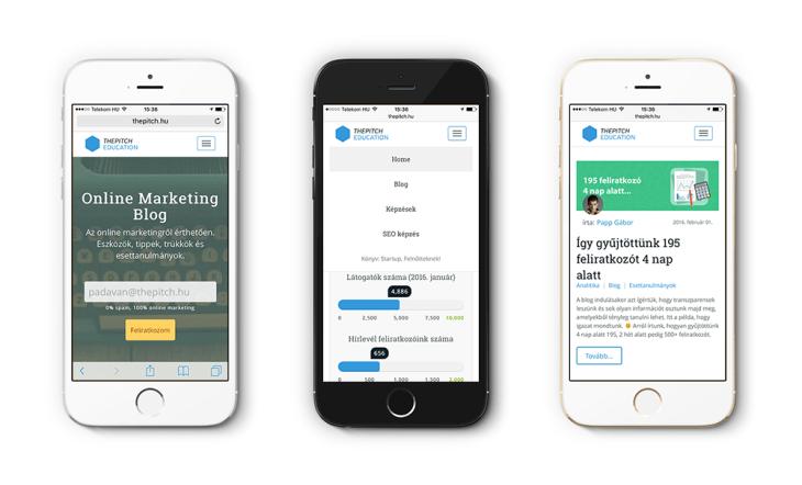 The Pitch Online Marketing Blog iPhone készüléken