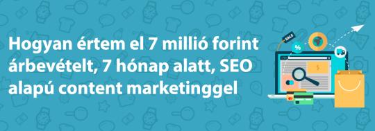 Webshop SEO: 7 milliós árbevétel 7 hónap alatt
