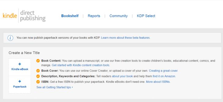 Kindle ebook publikálása