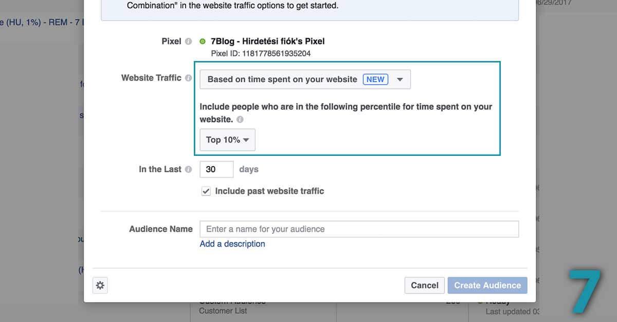 Time on site facebook hirdetés lookalike alapján