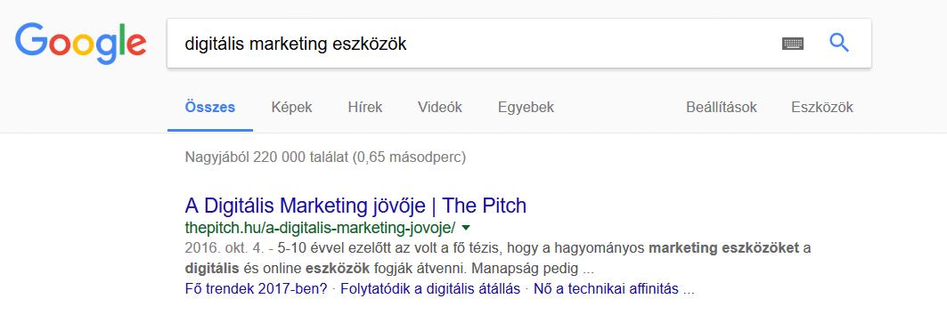 digitális marketing eszközök