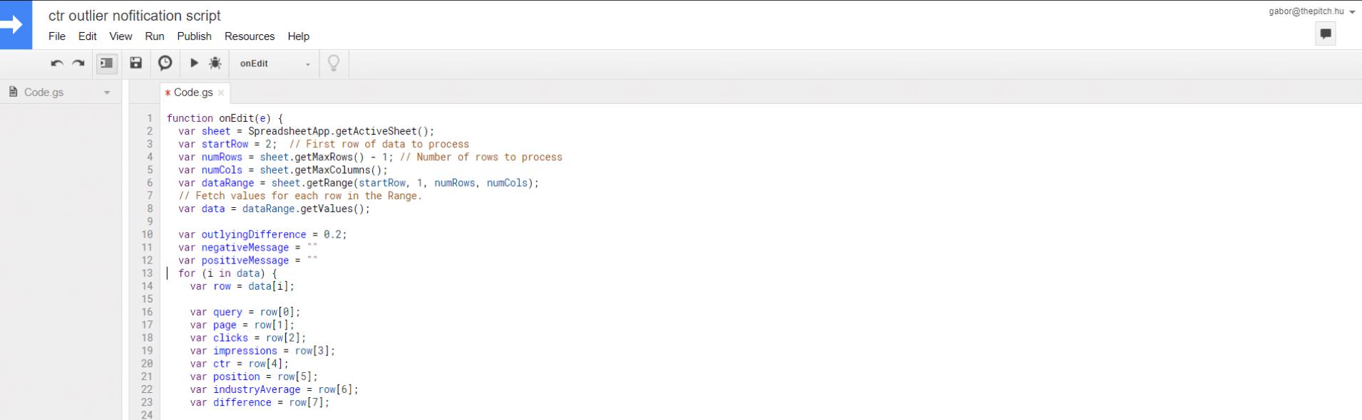 kattintási arány - ctr script