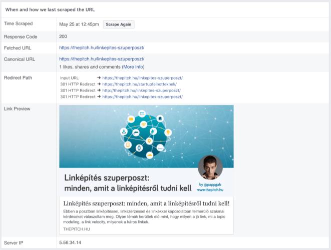 facebook debugger cache