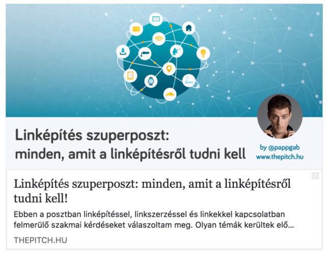 facebook open graph debugger link előnézet