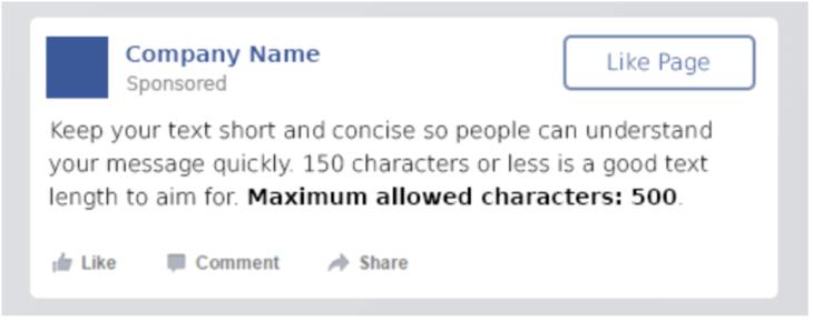 facebook szöveg méret