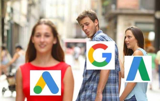 google ads vs google adwords meme
