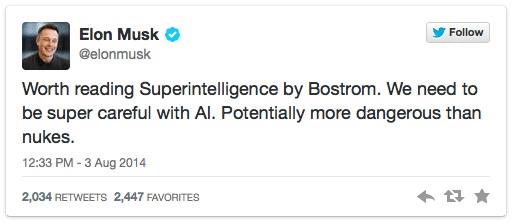 elonk musk véleménye a google AI-ról