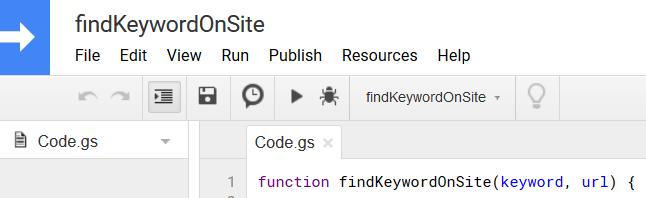 kulcsszó az adott weboldalon