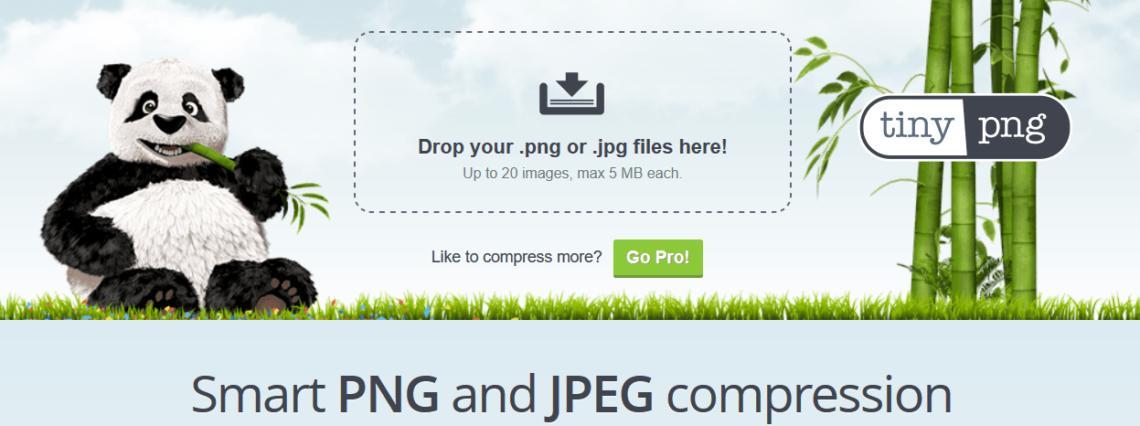 veszteségmentes képtömörítés TinyPNG segítségével
