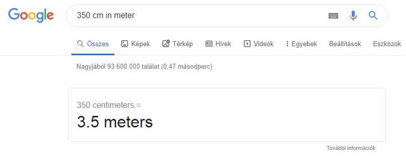 Google keresés in