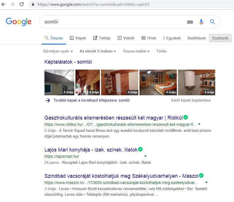 Google keresés qdr