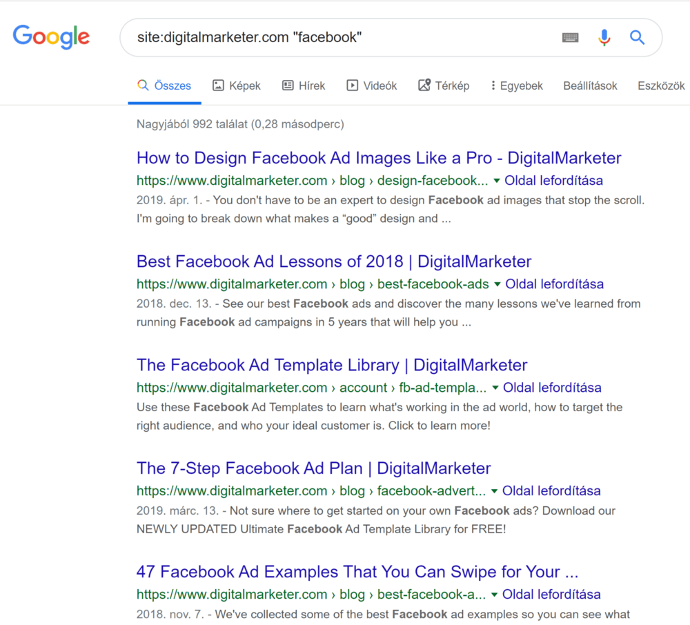 digitalmarketer facebook cikkek