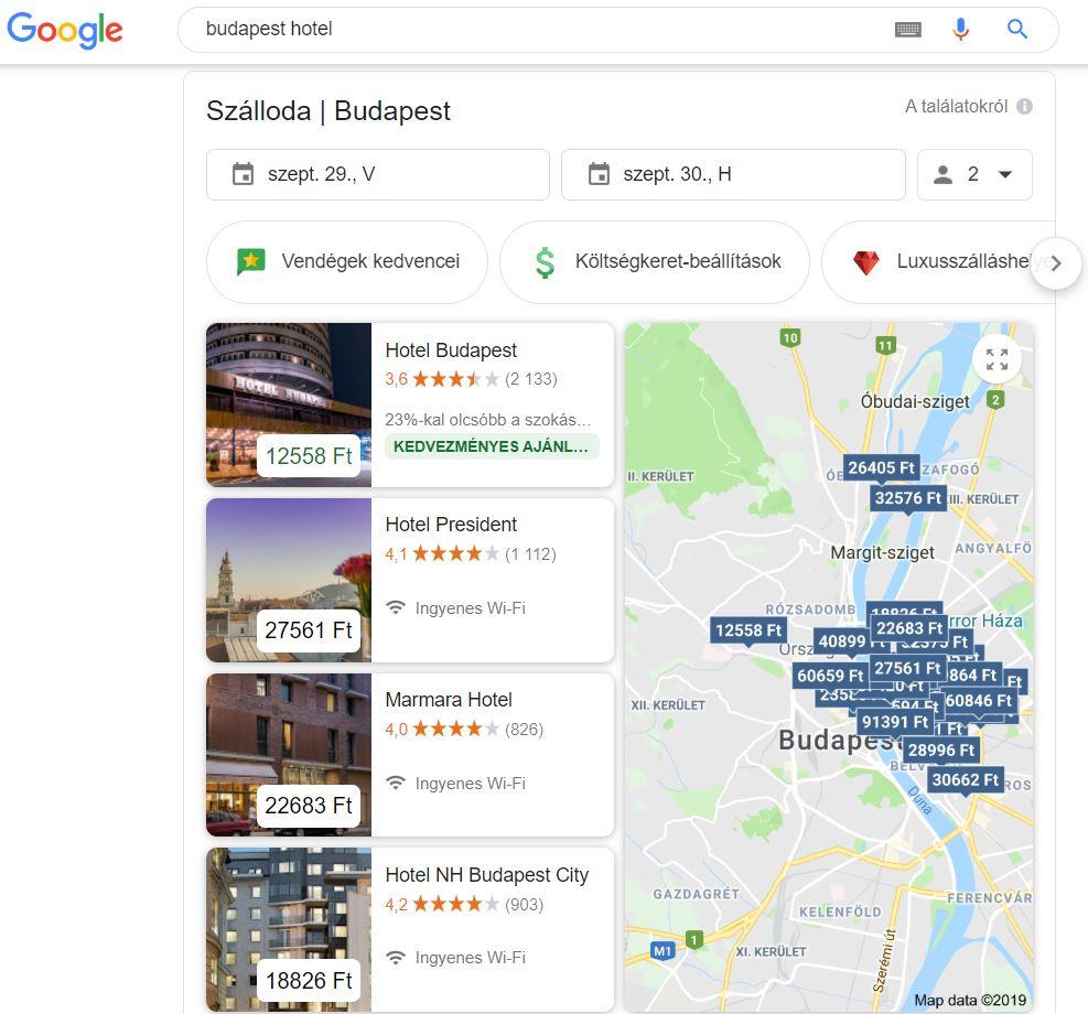 SERP hotels