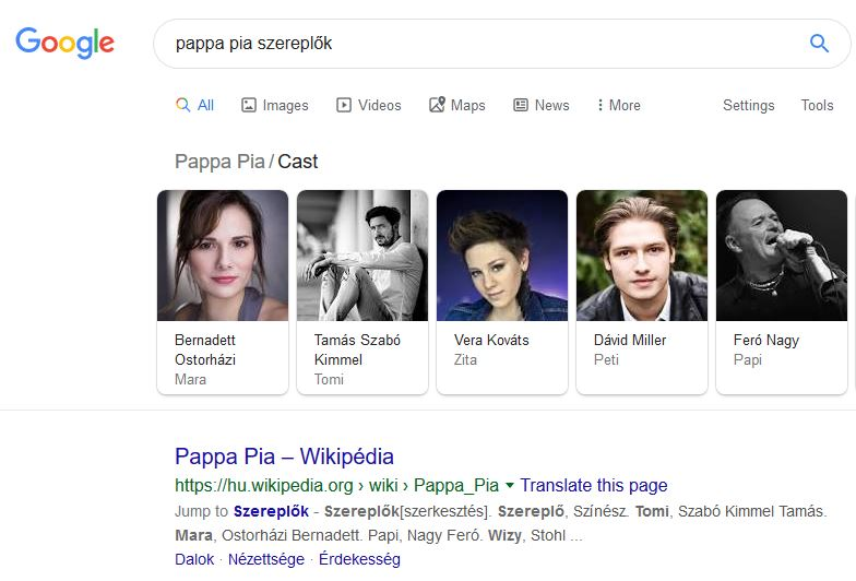 pappa pia szereplők