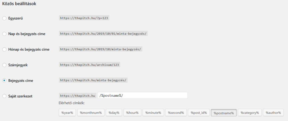Keresőbarát URL beállítása