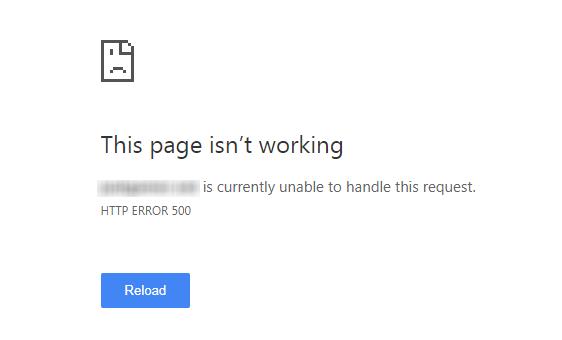 http 500 error hiba