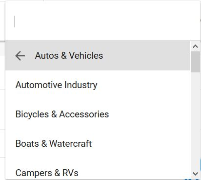 google trends alkategória