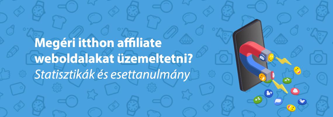 affiliate weboldal statisztikák